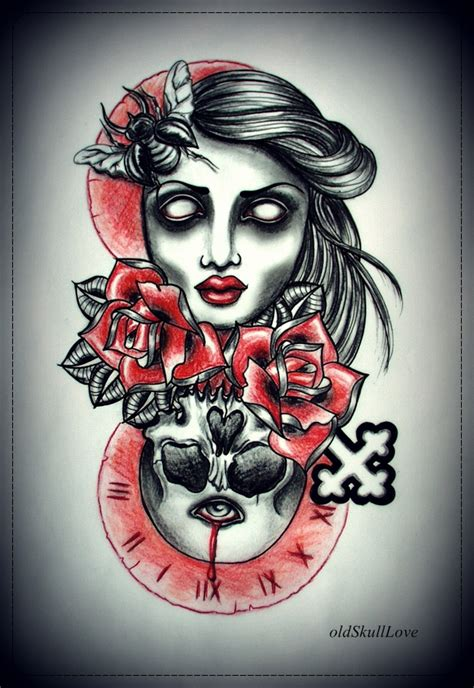 dying time tattoo design by mweiss art on deviantart