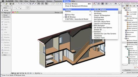 section archicad using the marquee to make a section youtube