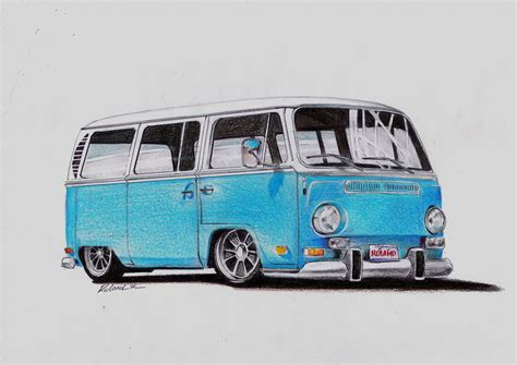 volkswagen bus drawing vw type 2 cer by rol4ndesignstudio on deviantart