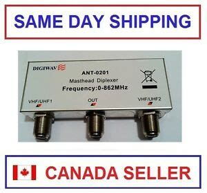 tv antenna combiner ant 0201 uhf vhf 2 in 1 out diplexer