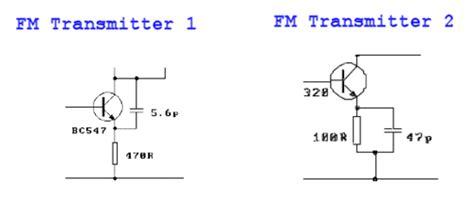 three transistor fm transmitter two stage fm transmitter bug more tank circuits