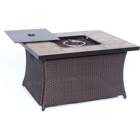home depot pit table cambridge 36 in 40 000 btu woven pit coffee table