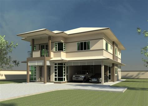 home designe modern double storey house plans quotes home building