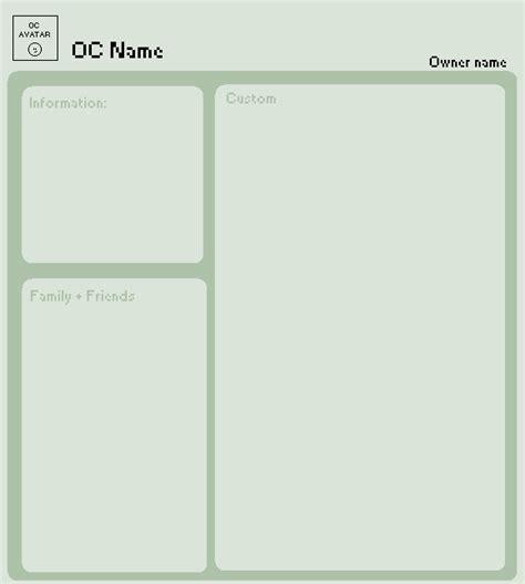 oc bio template oc profile project base by pixiepot on deviantart
