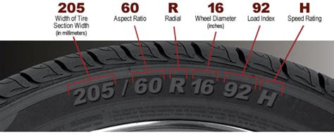 tire section width tires size and age all the numbers dutcheagle com rv