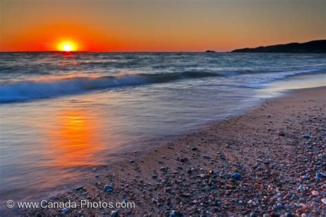 lake superior scenic sunset ontario photo travel idea