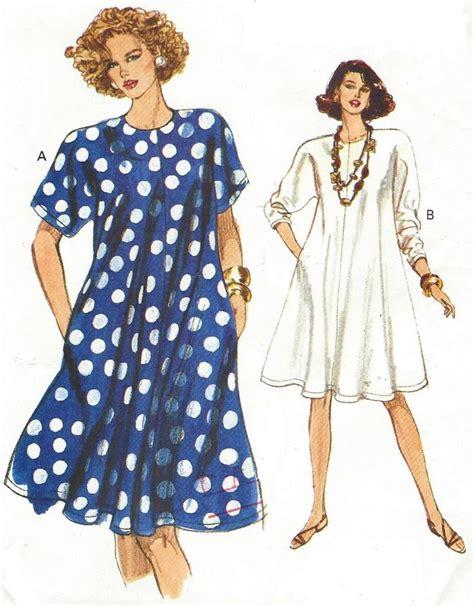 pattern swing dress 90s womens swing dress dolman sleeves very easy very vogue