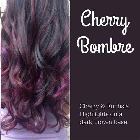 fuchsia hair color cherry bombre hair color idea cherry and fuchsia