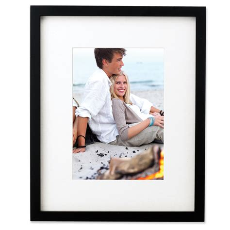 10 X 13 Matted To 8x10 - black wood 11x13 picture frame matted to 8x10