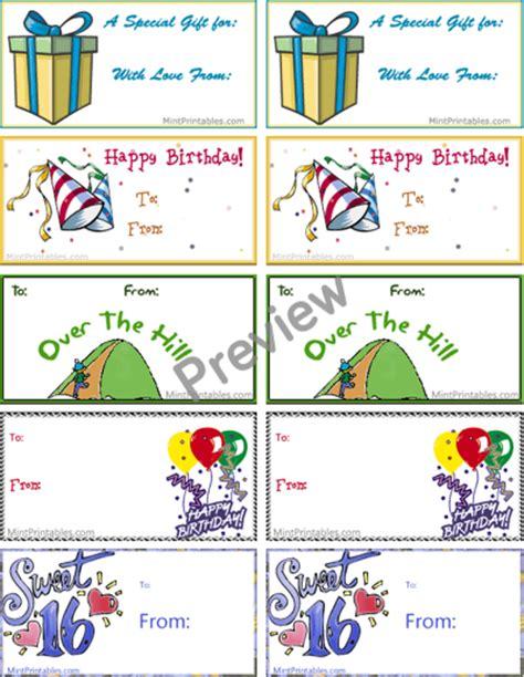 printable gift tags for birthday free printable birthday tag combo pack