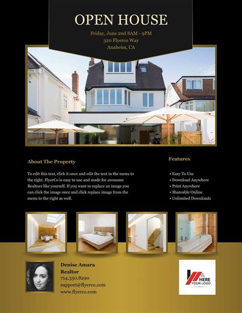 open house brochure template flyerco flyer maker luxury collection