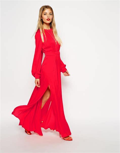 Dress Aliysha Syari Maxi 2 asos kaftan pleated maxi dress in lyst