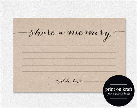 Memory Cards Funeral Template by A Memory Card Memory Cards A Memory