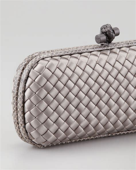 Bottega Veneta Intrec Capretto Knot Clutch In Black by Bottega Veneta Top Knot Clutch Bottega Veneta Wallet