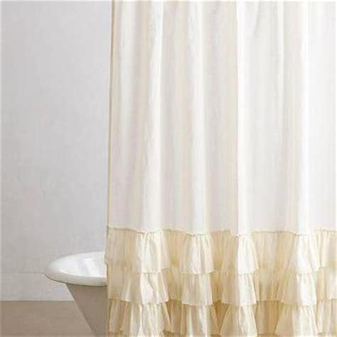 cream ruffle shower curtain urbanoutfitters com gt bloomer ruffle shower curtain