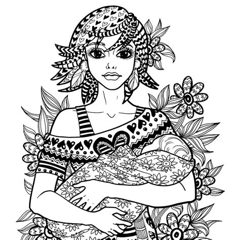 coloring pages for adults mom treasure of the heart coloring page motherhood series