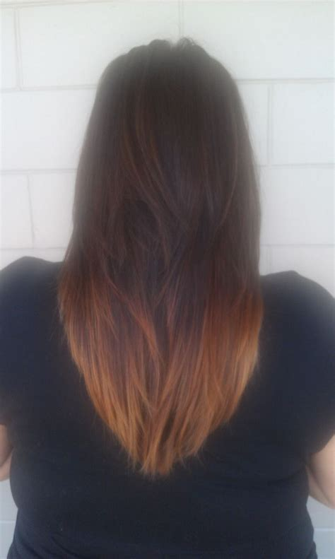 What Is Ombre Cut | v cut with ombre color my work pinterest colors