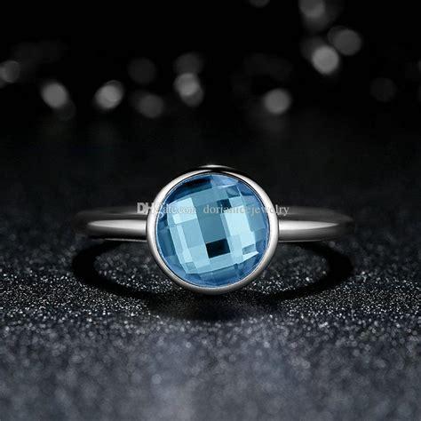 Aqua Blue Poetic Droplet Ring P 999 aqua blue poetic droplet ring