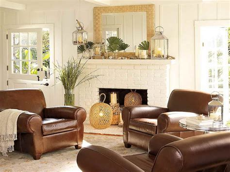 prepossessing 40 living room design ideas brown leather