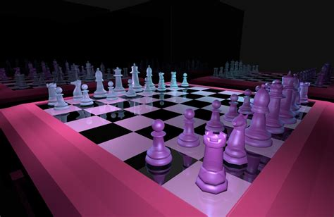 chess vaporwave model turbosquid
