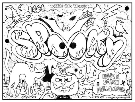 graffiti coloring pages free coloring sheet more free graffiti coloring pages halloween graffiti