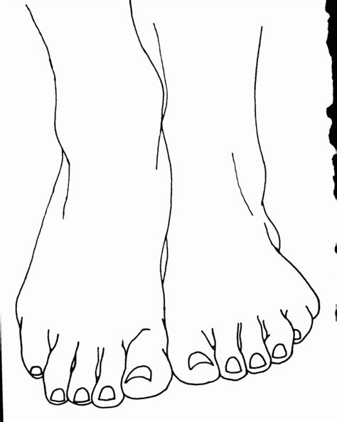 Foot Coloring Pages Coloring Home Foot Coloring Pages