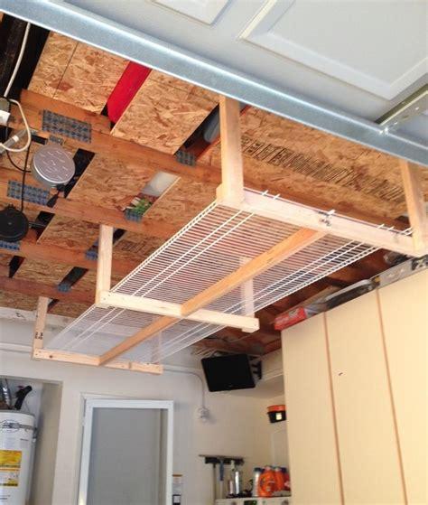 diy overhead garage storage rackfour xs