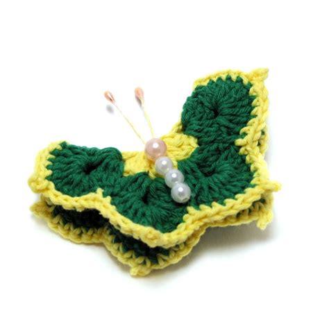 bros rajut kupu kupu cantik crafts