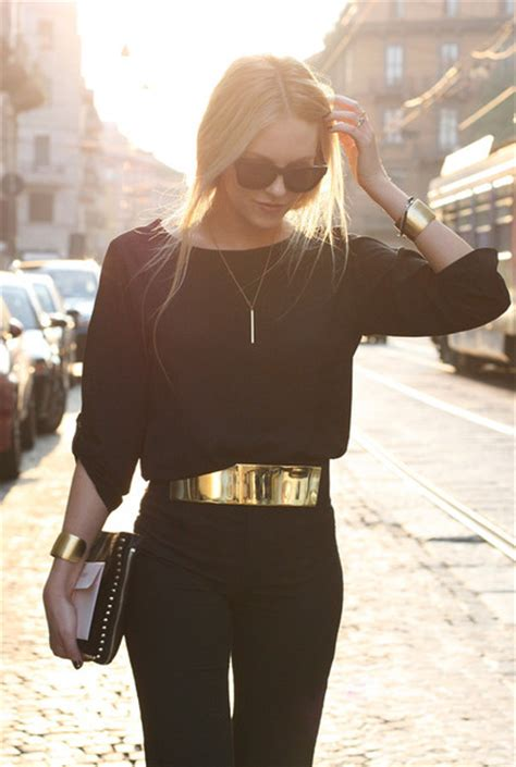 How To Create A Stylish Black And Gold 3d Text Effect In   belt gold high waist belt accessories fashion gold