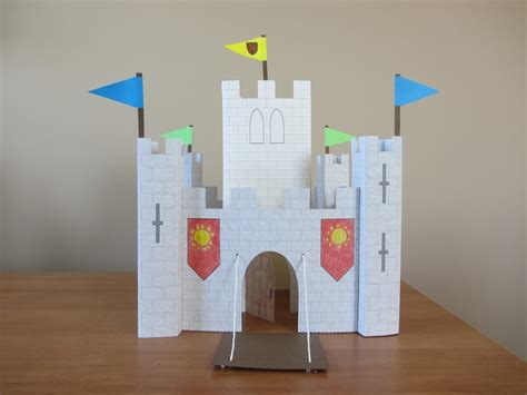 How To Make A Castle Out Of Paper - 3d paper castle part 2 keep pennants