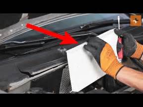 how to change a pollen filter opel vectra c tutorial