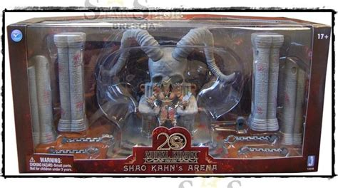 Mortal 13cm mortal kombat shao kahn throne arena 20th figure box set jazwares ebay