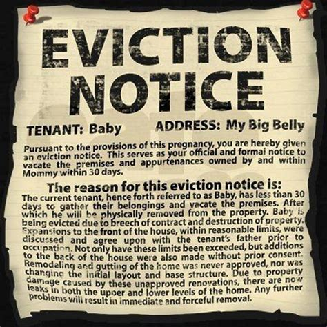 printable baby eviction notice stfu parents moms who serve their babies eviction notices