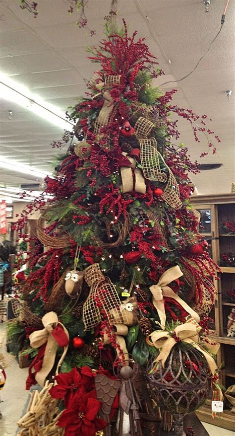 decorated christmas trees on pinterest christmas trees decorated with burlap ribbon google