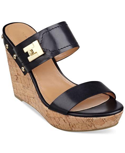 hilfiger wedge sandals hilfiger s madasen platform wedge sandals in