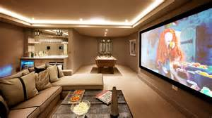 Home cinema design ideas family room transitional with home theater