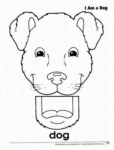 paper bag dog pattern 8 best images of printable paper bag puppets animals