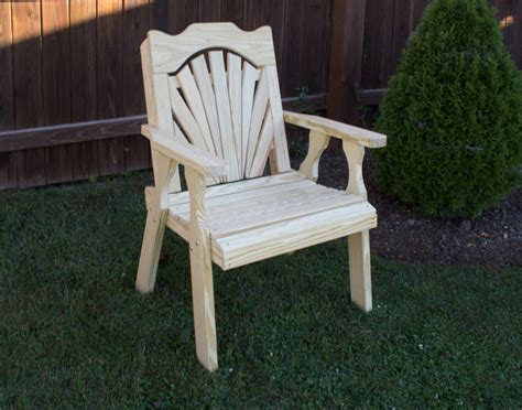 treated pine outdoor furniture treated pine fanback patio chair