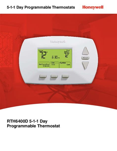 Honeywell Rth6400d 5 1 1 Day Programmable Thermostat Brochure