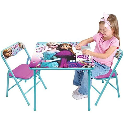 folding table and chair set for toddlers frozen elsa activity table chair set toddler kid