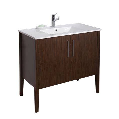 vigo bathroom vanity vigo 36 quot maxine single bathroom vanity wenge free