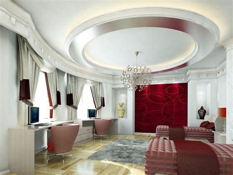 Circular Ceiling Design Whie Bedroom With Circular Ceiling Interior Design Ideas
