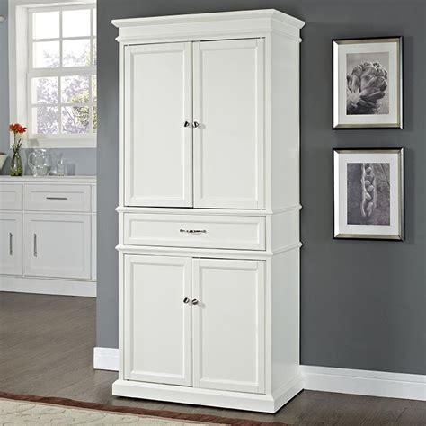 White Pantry Cupboard by White Kitchen Pantry