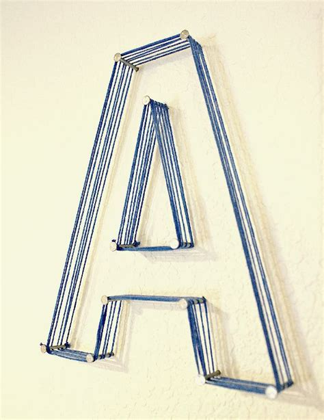 How To String Letters - 25 best ideas about string letters on canvas