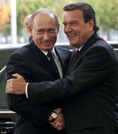 George W Bush Birthday by German Government Disowns Gerhard Schroeder After Bear Hug