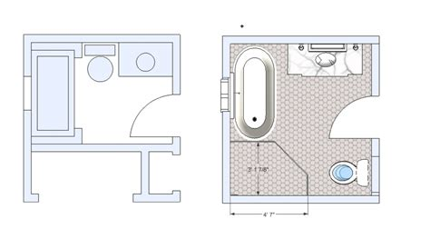 bathroom floor plans 5 x 10 avenues bathroom remodel tiek built homes