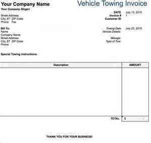truck repair invoice template free tow service invoice template excel pdf word doc