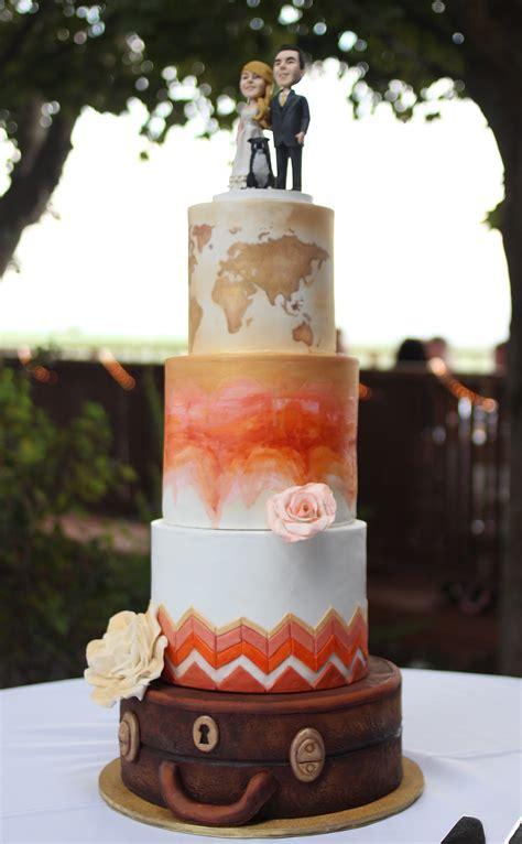 Hochzeitstorte Thema Reisen by Travel Theme Wedding Cake Cakecentral
