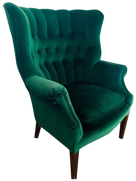 green armchair vintage emerald green armchair chairish