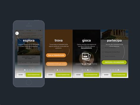 app layout tutorial mobile app tutorial flow by caffeina dribbble